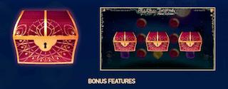 3つの異なるボーナス機能