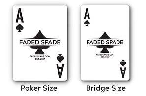 ポーカーカードのサイズ